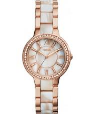 Fossil ES3716 Señoras de Virginia se levantó y reloj cuerno brillo