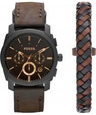Fossil FS5251SET Máquina para hombre reloj cronógrafo de color marrón oscuro
