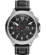 Armani Exchange AX1754 reloj cronógrafo de los deportes correa de cuero negro de los hombres