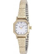 Rotary LB00764-29 Relojes de oro plateado reloj pulsera expansible