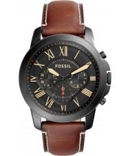 Fossil FS5241 Para hombre de la luz subvención reloj cronógrafo marrón