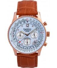 Krug-Baumen 400701DS Reloj para hombre correa de piel de naranja