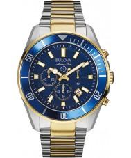 Bulova 98B230 Hombre de All Star marina reloj cronógrafo de acero azul
