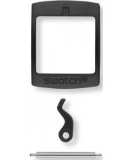 Swatch S639000222 New Gent plástico negro hebilla de conjunto