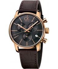 Calvin Klein K2G276G3 ciudad gris para hombre reloj cronógrafo marrón