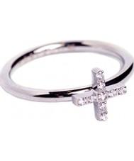 Edblad 79437 Señoras de la fe anillo de acero Zircona cúbico - tamaño p (m)