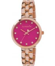 Accessorize AZ4001 Damas emergente de color rosa reloj de pulsera de oro