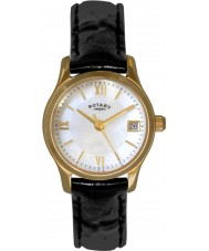 Rotary LS02368-41 Relojes de oro vestido de eco reloj chapado