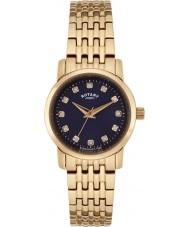 Rotary LB02462-05 Relojes de Sloane rosa reloj pulsera de acero de oro