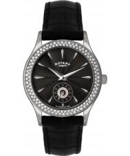 Rotary LS02908-04 piedra damas establece reloj negro