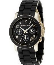 Michael Kors MK5191 reloj cronógrafo negro señoras de la pista