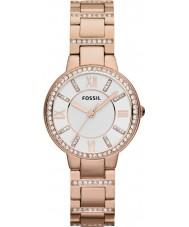 Fossil ES3284 Señoras de Virginia se levantó reloj de acero de oro