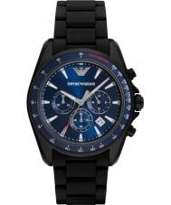 Emporio Armani AR6121 Deportes para hombre reloj de la correa mixta negro