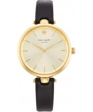 Kate Spade New York 1YRU0811 Holland damas de cuero negro reloj de la correa