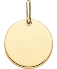 Thomas Sabo LBPE0001-413-12 Amor de las señoras de 18 quilates de oro amarillo puente colgante plateado