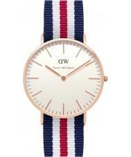 Daniel Wellington DW00100030 Damas clásico 36mm Canterbury reloj de oro rosa