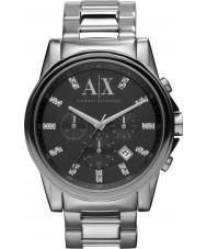 Armani Exchange AX2092 reloj cronógrafo vestido negro de plata de los hombres