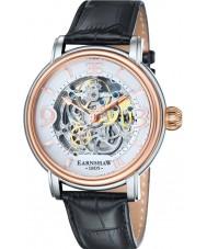 Thomas Earnshaw ES-8011-06 Mens longcase croco negro reloj de la correa de cuero