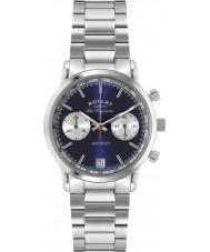 Rotary GB90130-05 Mens les originales reloj cronógrafo de plata azul vengador deportes