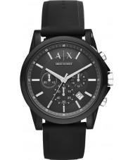 Armani Exchange AX1326 reloj cronógrafo de silicona negro deporte