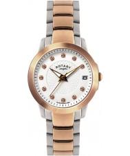 Rotary LB02837-41 Relojes de piedra fijó dos tonos reloj de acero