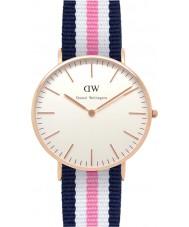 Daniel Wellington DW00100034 Damas clásico 36mm Southampton reloj de oro rosa