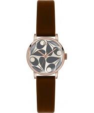 Orla Kiely OK2082 Las señoras Patricia crema de cuero marrón reloj de la correa