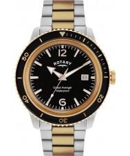 Rotary GB02695-04 Mens relojes vengador océano subió reloj de acero