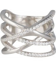 FROST by NOA 145023-52 Las señoras anillo de plata con circonio cúbico - Talla L