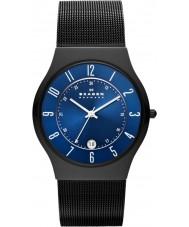 Skagen T233XLTMN Mens Aktiv reloj azul y negro de titanio