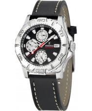 Festina F16243-6 reloj de la correa de cuero multifunción para hombre