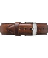 Daniel Wellington DW00200021 Mens clásico de los varones de 40 mm luz de plata de cuero marrón correa de repuesto