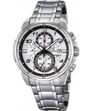 Festina F6842-2 reloj cronógrafo de acero de plata para hombre del cronógrafo