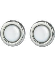Skagen JESW020 Señoras de acero pendientes perla blanca