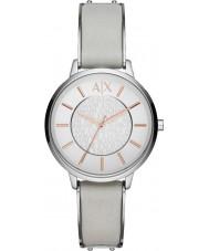 Armani Exchange AX5311 reloj del vestido de la correa de cuero gris damas