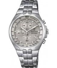 Festina F6843-2 reloj cronógrafo de acero de plata para hombre del cronógrafo