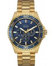 Guess W0172G5 Para hombre cazador de oro plateado reloj pulsera