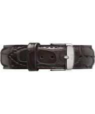 Daniel Wellington DW00200025 Mens clásico 40mm plata York correa de cuero marrón oscuro repuesto