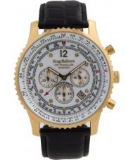 Krug-Baumen 600202DS reloj de diamantes viajero aéreo para hombre