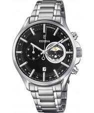 Festina F6852-3 Para hombre reloj cronógrafo de plata