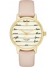 Kate Spade New York KSW1059 Señoras del reloj de la correa de cuero marrón de metro