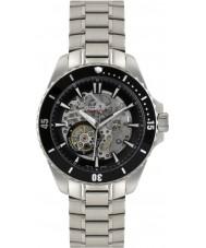 Rotary AGB90078-A-04 Mens AQUASPEED reloj automático esqueleto de acero de plata