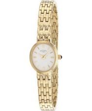Rotary LB02084-02 Relojes de oro blanco reloj chapado