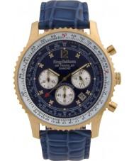 Krug-Baumen 600207DS reloj de diamantes viajero aéreo para hombre
