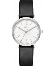 DKNY NY2506 Señoras del reloj de la correa de cuero negro Minetta