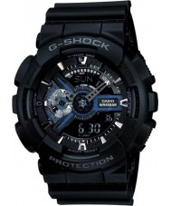 Casio GA-110-1BER reloj de tiempo del mundo para hombre negro combi g-shock