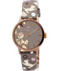 Radley RY2068 reloj de la correa de cuero de impresión circo marsupial damas