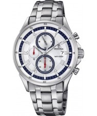 Festina F6853-1 Para hombre reloj cronógrafo de plata