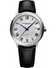 Raymond Weil 2237-STC-00659 Reloj para hombre de la correa de cuero negro maestro