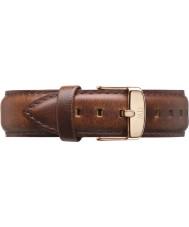 Daniel Wellington DW00200006 Mens clásico de 40 mm varones St Rose luz del oro de la correa de cuero marrón de repuesto